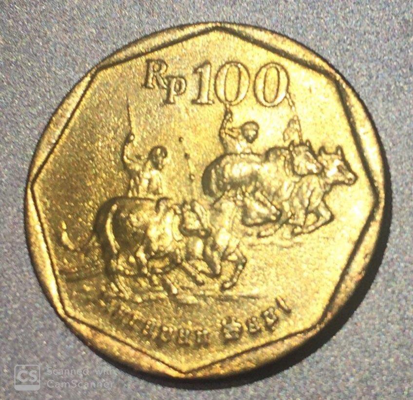"INDONESIA – 100 Rupiah ""Bulls Race"" 1998 UNC (1173)"