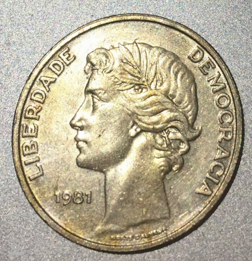 "PORTUGAL – 25 Escudos ""Laureate Head"" 1980-86 UNC (1270)"