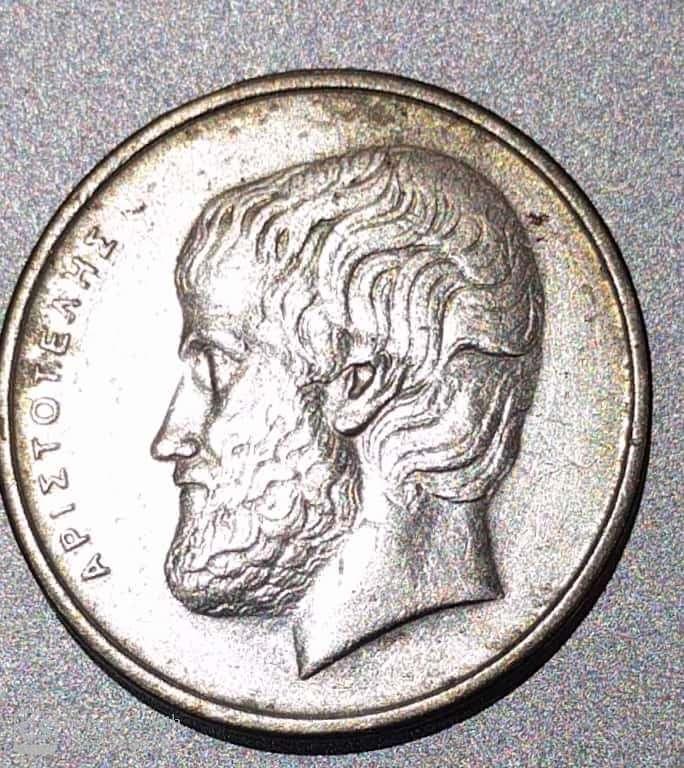 """GREECE – 5 Drachmai """"Aristotle-Greek Philosopher"""" 1982-2000 UNC (0577)"""