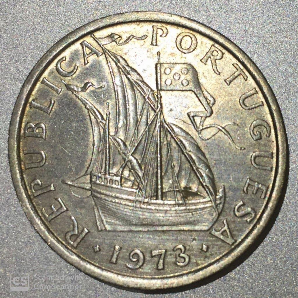 """PORTUGAL – 5 Escudos """"Sailing Boat"""" 1969-74 UNC (0812)"""