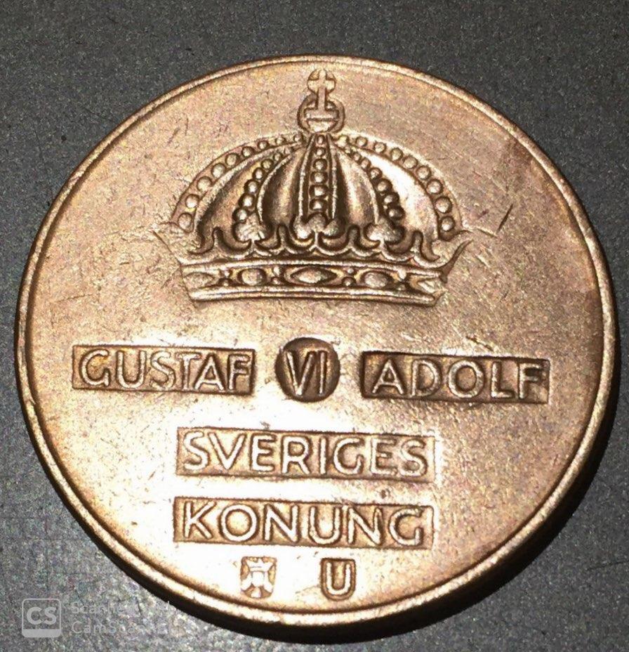 "SWEDEN – 5 Ore 1952-71 ""King – Gustaf VI Adolf"" UNC (0814)"