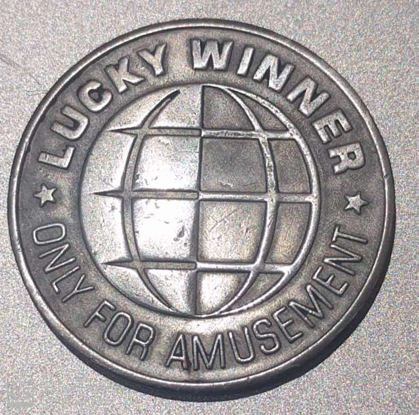 U.K. – Game Token – Lucky Winner  V.F. & Rare (1616)