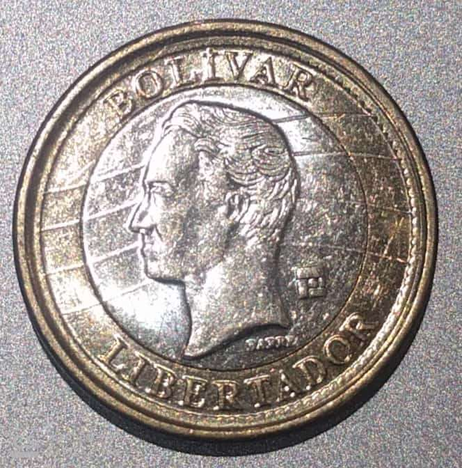 "VENEZUELA – 1 Bolivar ""Coat of Arms"" 2007-12 UNC (1801)"