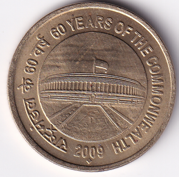 """Rep India – Rs.5.00 """"60 Years of Commonwealth""""2009 UNC Rare (0740)"""
