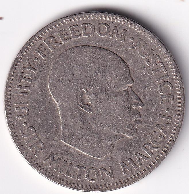"SIERRA LEONE – 20 Cents ""Sir Milton Margai"" 1964 Xtrafine Rare (0922)"