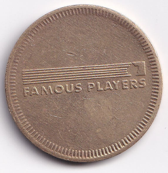 """CANADA – TOKEN """"Famous Players"""" Tech Town UNC (1834)"""