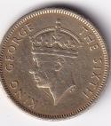 HONG KONG George VI – 10 Cents 1948 XF Rare (0265)