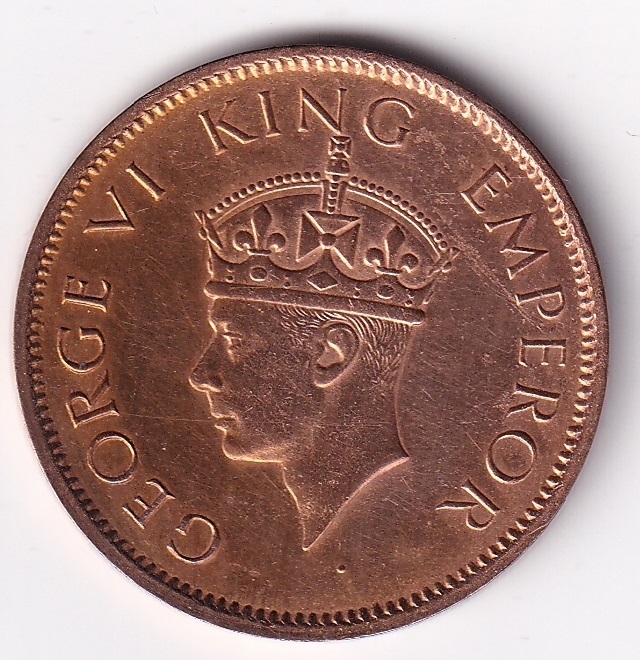 King George VI- One Qr. Anna 1940 UNC (1999)