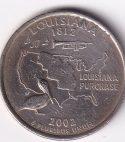 "USA – Commemo. Qr. Dollar ""Louisiana 1812"" 2002 UNC (0257)"