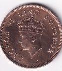 King George VI- One Qr. Anna 1939 UNC (0258)