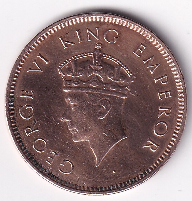 King George VI- One Qr. Anna 1939 UNC (0258)