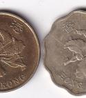 HONG KONG – Set of 20 + 10 Cents 1997-98 UNC (0266)