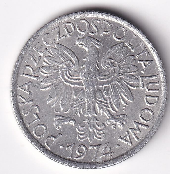 "POLAND –  2 Zt. ""White Eagle"" 1974 UNC Rare (909)"