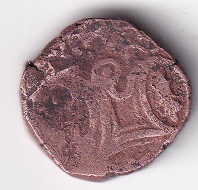 OHINDA Dynasty 'Samant Deva' Copper Jital Coin AD-850-1000  (1630)