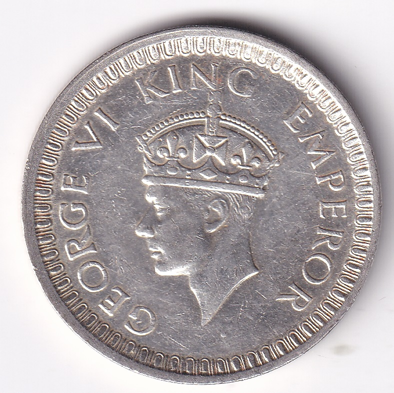 GEORGE VI KING – One Rupee 1942 (Silver) UNC Bom. (2487)