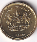 "LESOTHO – 5 Lisente ""Pine Tree"" 1998 UNC Mint (0137)"