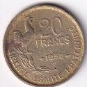 """FRANCE – 20 Francs """"Rooster"""" 1950 UNC V. Rare (2079)"""