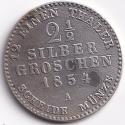 "PRUSSIA (Germany) Antique ""Wilhelm IV King"" Silver Penny 1854 VF V.Rare (0665)"