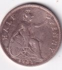 "U.K.  George V Half Penny ""Britannia"" 1935 VF Rare (0136)"