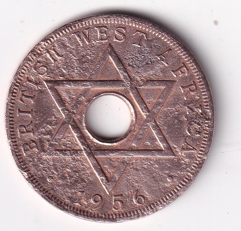 W. AFRICA – Elizabeth II -1 Penny 1956 VG Rare (2077)