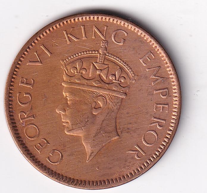KING GEORGE VI- One Qr. Anna 1941 Bom UNC (1904)