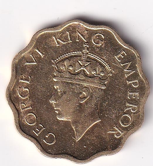 KING GEORGE VI- One Anna 1942 Cal UNC Rare (1340)