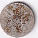 "U.K. George V – Antique One Florin ""Cruciform Shields"" 1921 SILVER V.F. Rare (2551)"