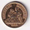 "FRANCE – 2 Francs ""Mercury-God of Commerce"" 1923 XF Rare (0680)"