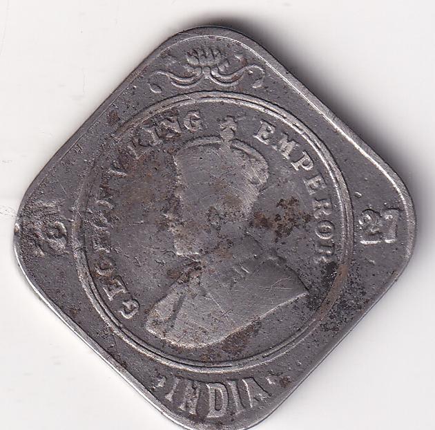 KING GEORGE V – 2 Annas 1927 VF Bom Rare (3184E)