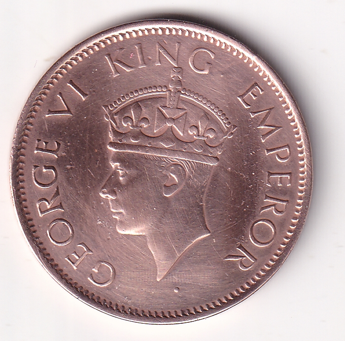 KING GEORGE VI – One Qr. Anna 1941 UNC (0320)