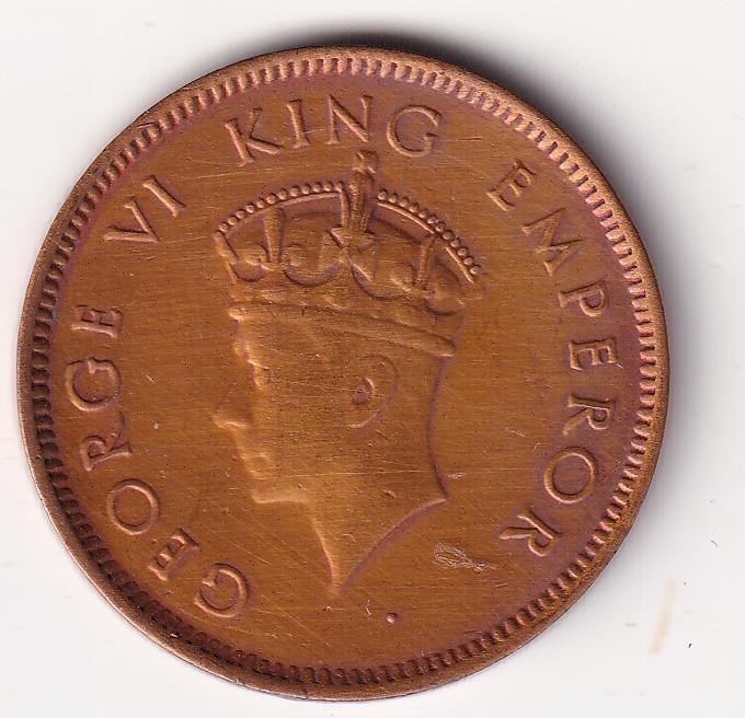 KING GEORGE VI – One Qr. Anna 1939 UNC (2689)
