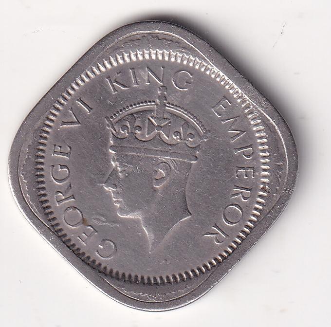 KING GEORGE VI – 2 Annas 1941 VF Cal V. Rare (3184)