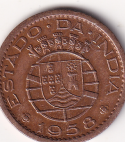 PORTUGUESE-INDIA – 10 Centavos 1958 UNC Rare (1257)