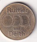 U.K. TOKEN – 10 Pence – Ruffler and Deith UNC (0393)