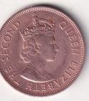 """MAURITIUS – 5 Cents """"Elizabeth II"""" 1961-75 BUNC (3003)"""