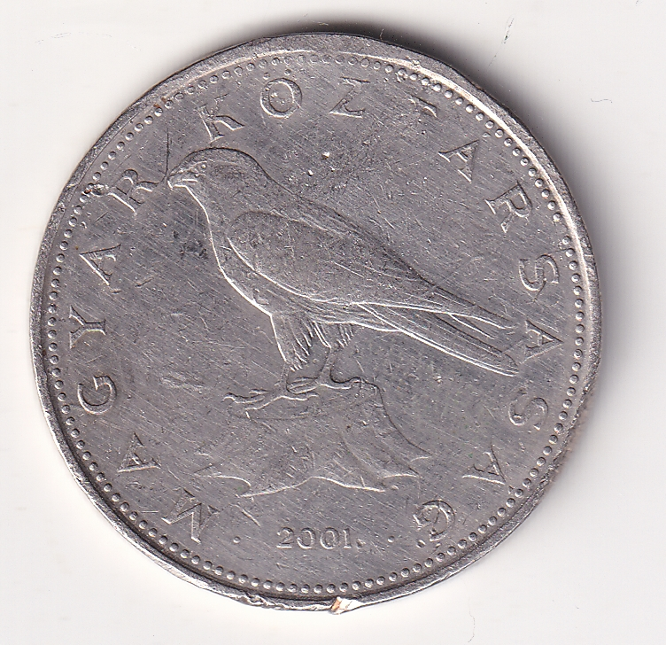 "HUNGARY – 50 Forint ""Falcon"" 2001 Large VF (2579B)"